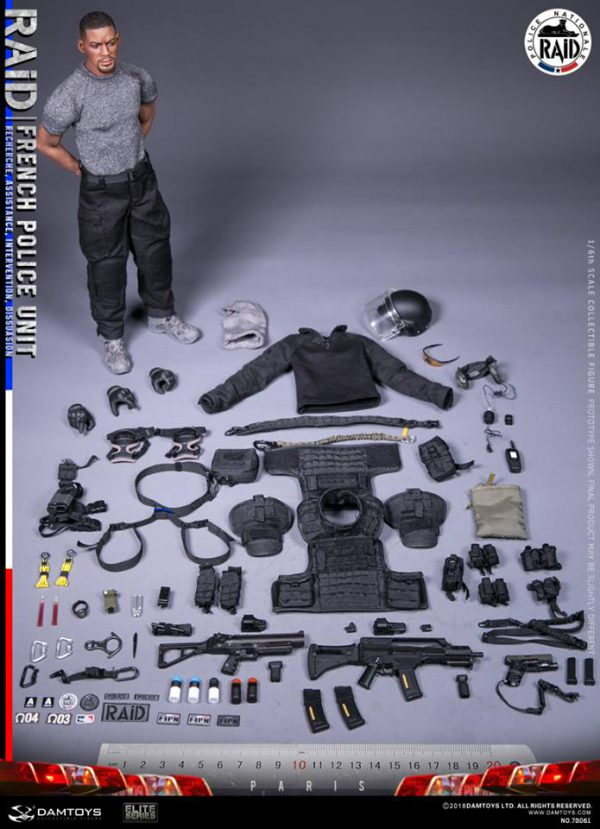 PRE-ORDER Damtoys French Police Unit Raid in Paris 1/6 Scale Collectible Figure