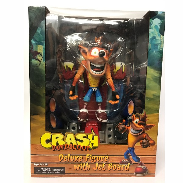 Neca Crash Bandicoot With Jet Board