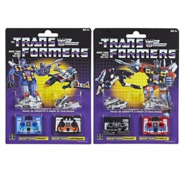 Transformers G1 Ravage et Rumble 2-Pack Decepticons ré-édition exclusive