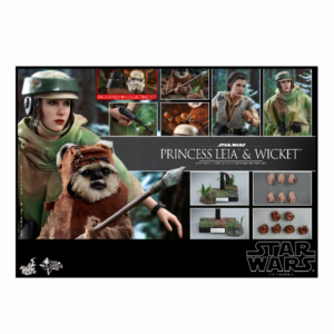 PRE-ORDER Hot Toys Star Wars Return of the Jedi Princess Leia and Wicket 1/6 Scale Collectible Figure Set 10% DEPOSIT OPTION