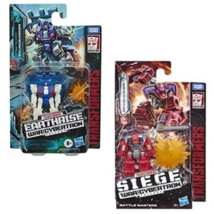 Transformers Earthrise Battle Masters Wave 1 Set of Soundbarrier & Smashdown