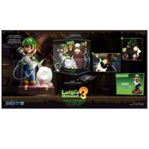 PRE-ORDER Luigi's Mansion and Polterpup 23cm Tall Collectors Edition PVC Statue