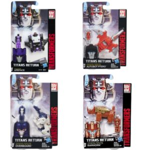 Transformers Titans Return Titan Master Apeface, Ptero, Overboard and Ramhorn