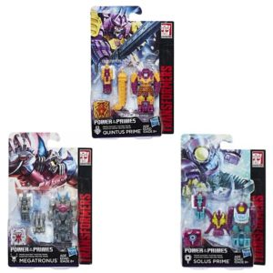 Transformers Power of the Prime Prime Masters Quintus Prime, Megatronus and Solus Prime