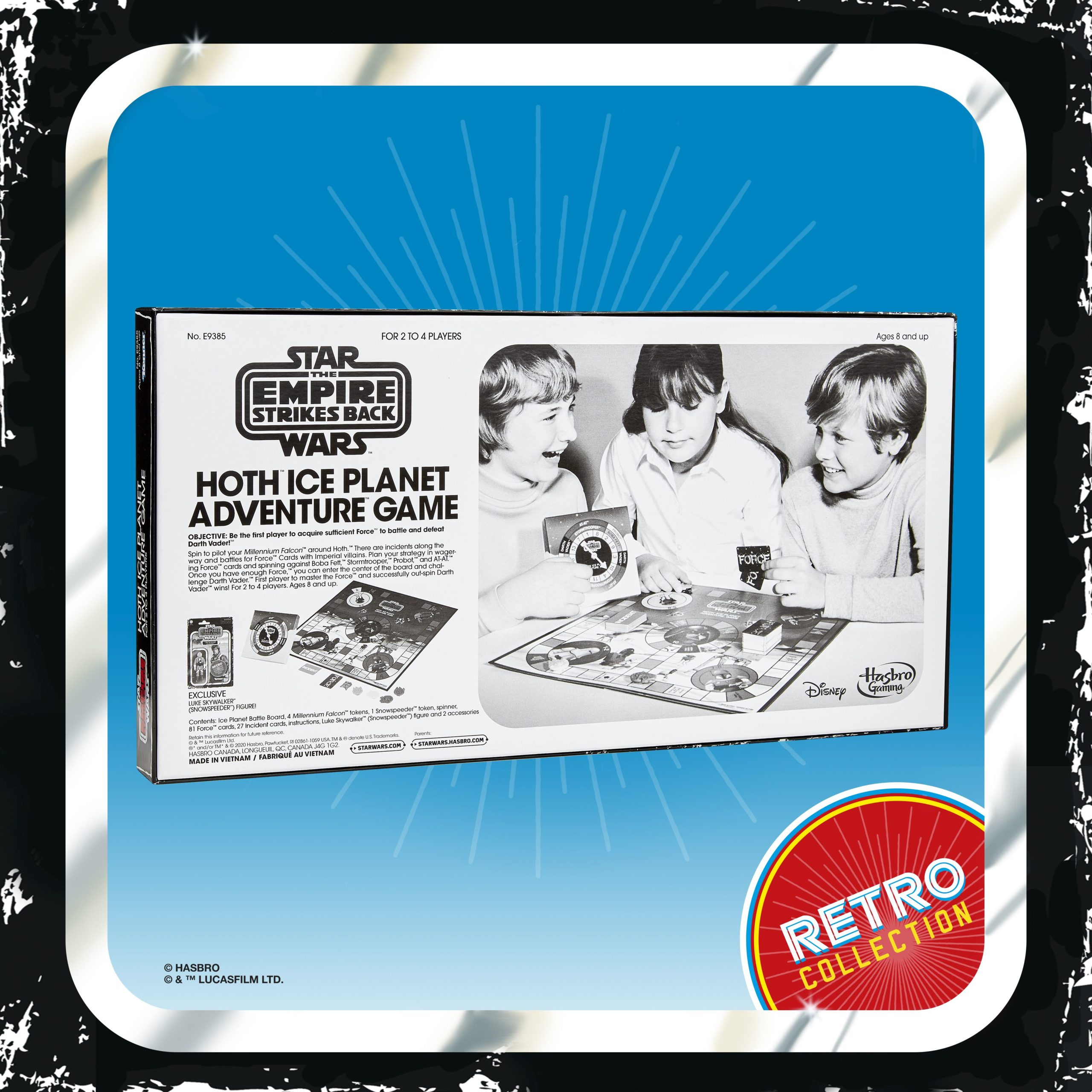 Star Wars Retro Collection Hoth Ice Planet Game USA INSTOCK