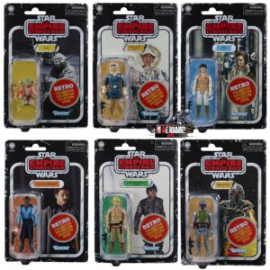 PRE-ORDER Star Wars Retro Collection Empire Strikes Back Set of 6 – Leia, Han, Yoda, Luke, Lando & Boba Fett
