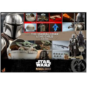 PRE-ORDER Hot Toys The Mandalorian 1/6 The Mandalorian (Beskar Armour) and The Child Deluxe Version
