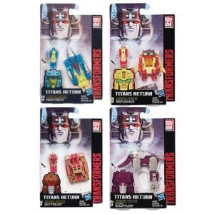 Transformers Titan Masters Repugnus, Skytread, Nightbeat and Shuffler Set of 4