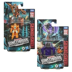PRE-ORDER Transformers Earthrise Battle Masters Wave 2 Set of 2 Rung and Slitherfang