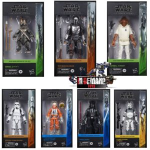 PRE-ORDER Star Wars Black Series Set of 7 Vader, Luke, Teebo, Ackbar, Mandalorian, Stormtrooper and Clone Trooper (1 PER CUSTOMER)