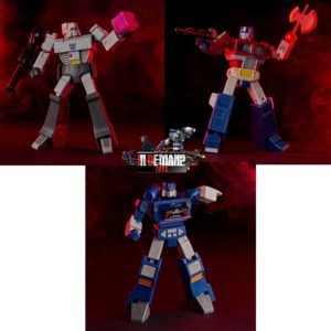 PRE-ORDER Transformers G1 Animated Movie 6″ Set of 3 Megatron, Optimus and Soundwave