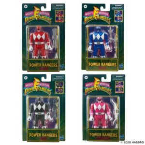 BALANCE PAYMENT ONLY Power Rangers Retro Figure Set of 4 – Red, Blue, Black and Pink Ranger