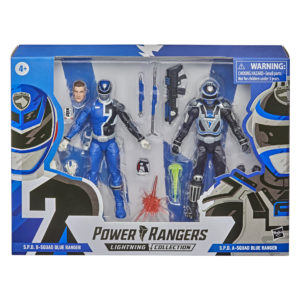 PRE-ORDER Power Rangers Lightning Collection S.P.D B-Squad Blue Ranger and A-Squad Blue Ranger