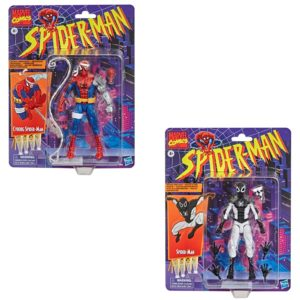Marvel Legends Retro Spider-Man Negative Zone and Cyborg Set of 2