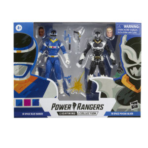 PRE-ORDER Power Rangers Lightning Collection In Space Blue Ranger and Psycho Silver