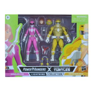 PRE-ORDER Power Rangers Lightning Collection X Teenage Mutant Ninja Turtles 2 Pack Morphed April O'Neil and Morphed Michelangelo