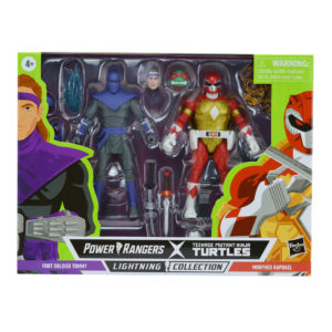 PRE-ORDER Power Rangers Lightning Collection X Teenage Mutant Ninja Turtles 2 Pack Morphed Foot Soldier Tommy and Morphed Raphael (Max 1 Per Customer)
